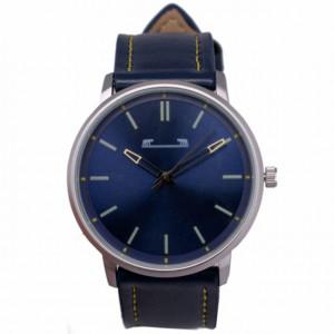 Ceas barbatesc clasic-elegant, model slim, design italian, albastru