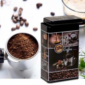 Cutie metalica depozitare cafea cu capac, 0,9 L