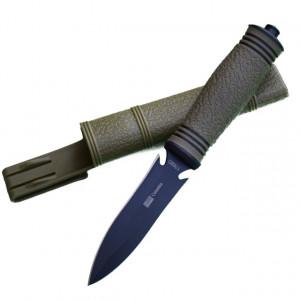 Cutit practic 23 cm Army Style cu lama dubla si varf ascutit, design deosebit, teaca inclusa