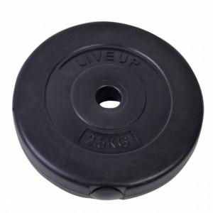 Disc greutate fitness pentru bara sau gantera, 2.5 kg, diametru 28 mm