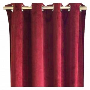 Draperie din catifea Pure Passion, 140 x 240 cm, Pufo, grena
