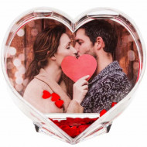 Glob foto in forma de inima Pufo Love, 9,5 cm