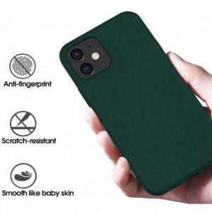 husa eleganta iphone 12 verde