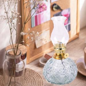 Lampa Pufo TinyGlass din sticla pentru ulei cu fitil, 19 cm