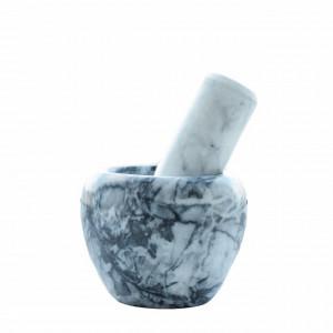 Mojar cu pistil din piatra, 9 cm, 1,2 kg, gri