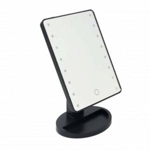 Oglinda pentru machiaj iluminata cu 16 becuri LED, Pufo