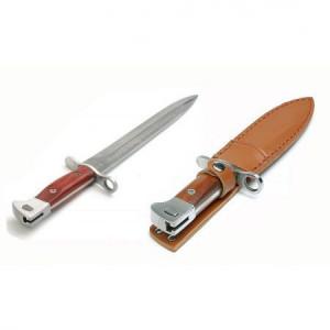 Pachet cutit baioneta inscriptionat AK-47 CCCP 34,5 cm cu teaca + prastie metalica de buzunar cu cauciuc natural, latex, rezistent