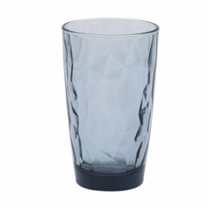 Pahar inalt Pufo Royal Blue pentru apa, suc, racoritoare, din sticla, 470 ml
