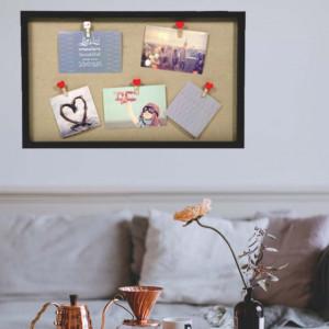 Panou Pufo pentru fotografii cu cleme, 52 x 32 cm, cadran negru