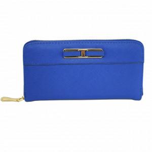 Portofel elegant de dama cu compartimente, albastru