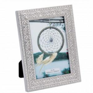 Rama foto decorativa eleganta Pufo Mosaic Silver, 15 x 20 cm