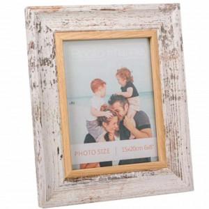 Rama foto decorativa Pufo White Retro, 24 x 29 cm