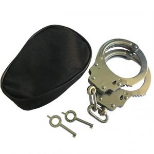 Set catuse metalice cu 2 chei si husa inclusa, model Premium