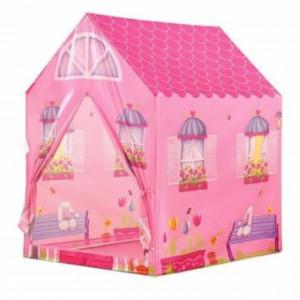Spatiu de joaca cort pentru fetite, model casa, utilizare interior/ exterior, Pufo