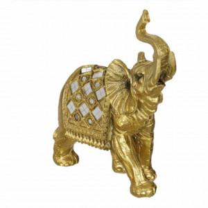 Statueta decorativa Pufo Gold Elefant, 17 cm, auriu