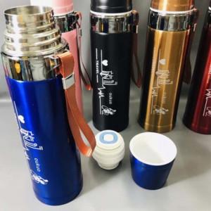 Sticla termos din otel inoxidabil pentru bauturi, 800 ml, albastru