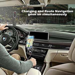 Suport auto Pufo pentru telefon, GPS, universal, argintiu