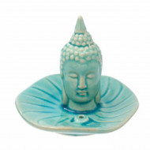 Suport din ceramica Pufo pentru betisoare parfumate, model Buddha