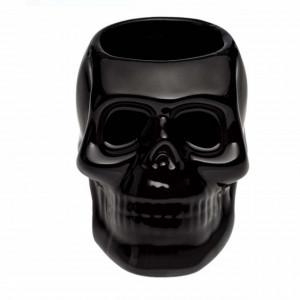 Suport in forma de craniu 3D pentru instrumente de scris, perie de dinti, pensule, etc, negru, Pufo