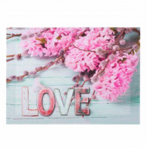 Tablou decorativ canvas cu zambile roz, model Love pinky hyacinth,35 cm, Pufo