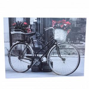Tablou decorativ Pufo Bicycle, 30 x 40 cm