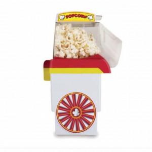 Aparat de preparat popcorn, alb cu rosu, Pufo