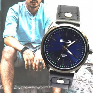 Ceas barbatesc MATTEO FERARI, design italian, mecanism japonez, bleumarin, curea neagra