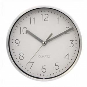 Ceas de masa Pufo Silver Admire, 15 x 4 cm, argintiu