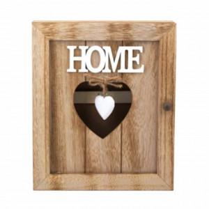 Cuier suport din lemn Pufo pentru chei, model LovelyHome