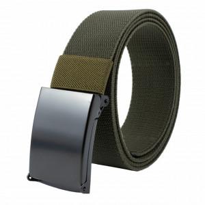 Curea centura Pufo Army Elite Edition pentru barbati 3.8 x 125 cm, reglabila, verde