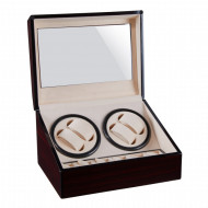 Cutie caseta Pufo Premium de prezentare si de intors ceasuri automatice, 4 + 6 locuri