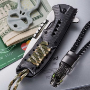 Cutit briceag 21.5 cm, model Military Commando Style, cu sistem de blocare lama si suport de prindere la centura