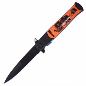Cutit briceag de buzunar 22.5 cm, model Zombie Slayer cu lama stilet si sistem blocare lama