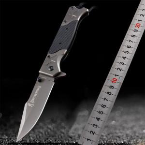 Cutit briceag tactic Browning 23 cm, model Navy Seals - Commander cu sistem de blocare lama, negru