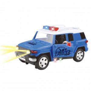 Masinuta Jeep Pufo pentru copii, cu sunet si lumini, albastra