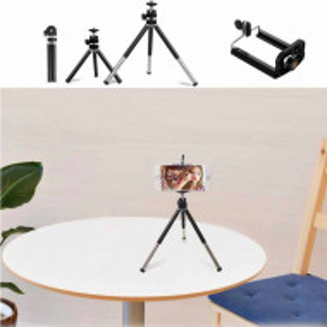 Mini trepied telescopic Pufo cu suport pentru telefon mobil sau aparat foto