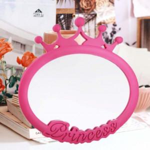 Oglinda decorativa ovala Princess pentru fetite, 25 x 25 cm