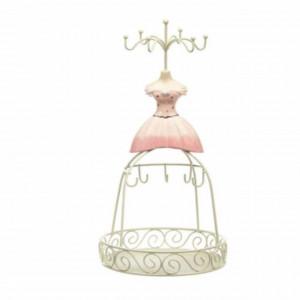 Organizator pentru bijuterii si accesorii in forma de rochie, Pufo Pinky Dress, 30 cm, Pufo