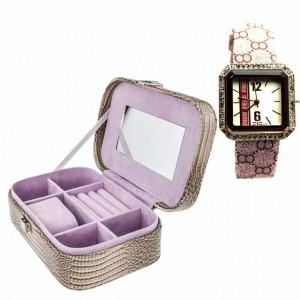 cutie de bijuterii si ceas cadou