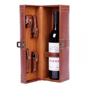 """Pachet geanta tip cufar pentru vin, model Vintage cu maner si accesorii incluse + sonerie receptie amuzanta """"Ring for SEX"""""""