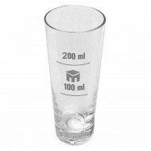 Pahar de sticla gradat pentru masurare bauturi, 200 ml, transparent