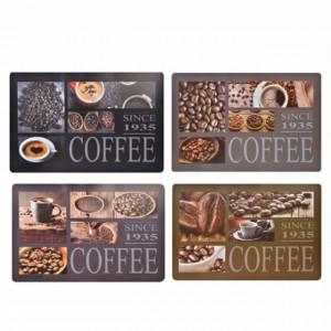 Set suport farfurie pentru servirea mesei, model Coffee, 4 bucati, 44 x 28 cm