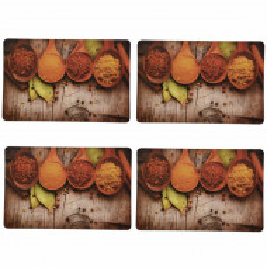 Set suport farfurie pentru servirea mesei, model Spices, 4 bucati, 43 x 28 cm