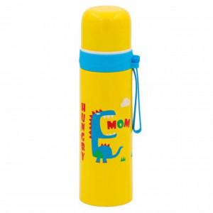 Sticla termos metalica Pufo Hungry Dino pentru bauturi, izoterm, 500 ml