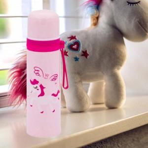 Sticla termos metalica Pufo Unicorn pentru bauturi, izoterm, 500 ml
