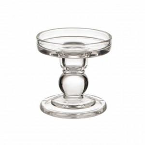 Suport pentru lumanare din sticla, 9 cm, Pufo
