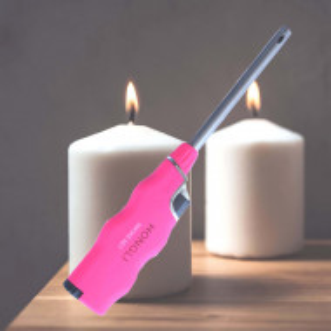 Aprinzator reglabil si reincarcabil pentru aragaz tip bricheta, roz