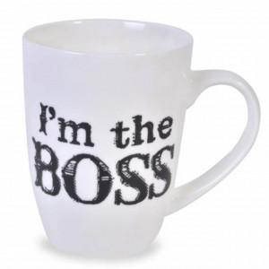 Cana pentru cafea I'm the BOSS, 340 ml, Pufo