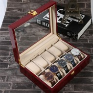 Cutie caseta din lemn pentru depozitare si organizare 10 ceasuri, model Premium