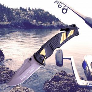 Cutit briceag special pentru pescari 21 cm, maner aluminiu